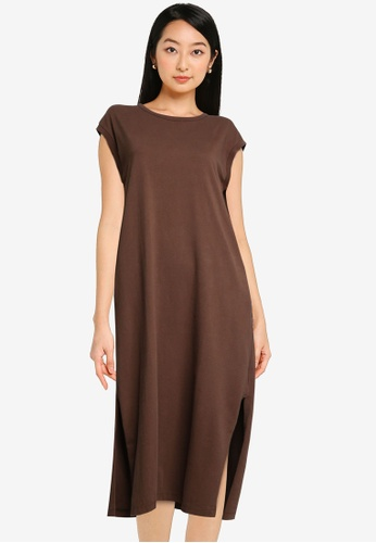 niko and ... brown Midi T-Shirt Dress 2D8C7AACBCEFCEGS_1