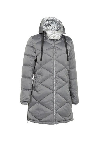 Universal Traveller grey Universal Traveller Padded Jacket With Metallic Foil Hood - PJW 9035 9DCB3AA6C181B5GS_1