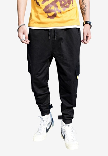 hk-ehunter black Men Jogger Pants 1B4F3AAA5842F5GS_1