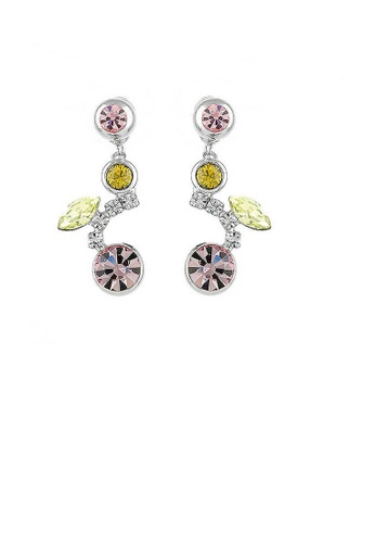 Glamorousky silver Cherry Earrings with Silver Austrian Element Crystals and Multi Color CZ Beads 91D34ACB9913EEGS_1