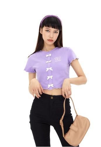 Twenty Eight Shoes Sweet Bow Slim Short Sleeve T-shirt HH-N0036 1D4C8AA12DE4BAGS_1