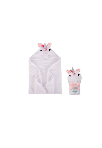 Little Kooma pink Hudson Baby Animal Hooded Towel(Woven Terry) 00427CH Multicolor Unicorn D20F7KC6CC37B4GS_1
