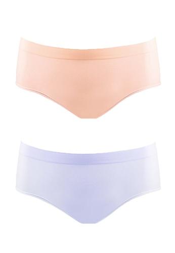 Neubodi purple and beige Low Waist Shaping Panty (1 Lilac + 1  Beige in a pack) NE503US56TDBMY_1