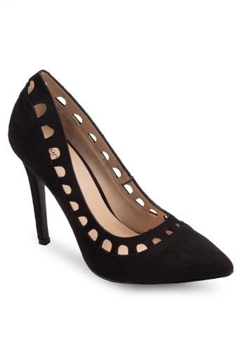鏤空拼接尖頭高跟鞋, 女鞋, 高zalora退貨跟