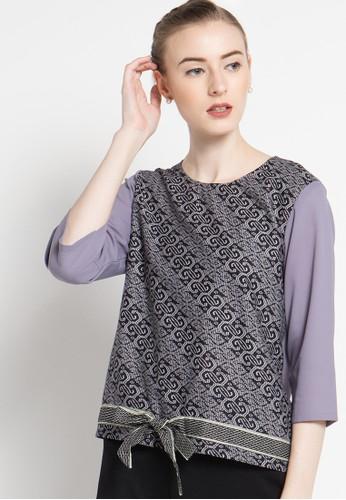 bhatara batik black and grey Keira BH237AA08ZPZID_1