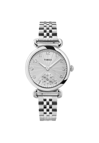 TIMEX silver Model 23 Silver Stainless Steel Ladies Watch TW2T88800 8E263ACECC24F6GS_1