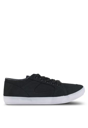 Penshoppe black Canvas Sneakers C1596SH14047B8GS_1