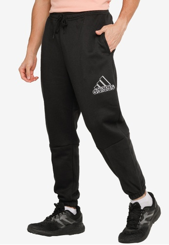 ADIDAS black essentials polar fleece pants 9DB79AA2C902A8GS_1