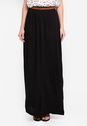 Vero Moda black Linn Belt Ankle Skirt C5D9AAAEE833B1GS_1