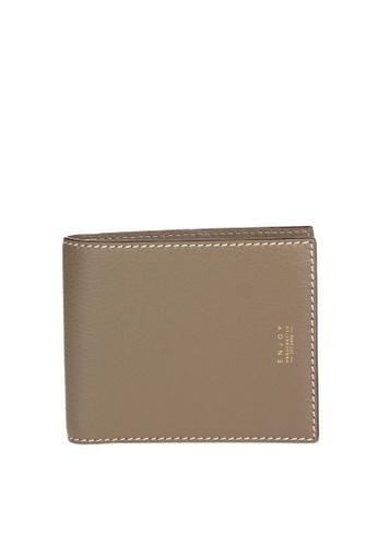Enjoybag beige Hannah`s Italian Goat Leather Wallet EN763AC54IUFHK_1