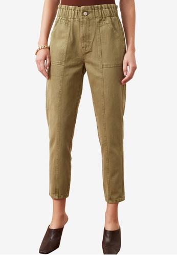 Trendyol green Elastic High Waist Jeans AB439AAED3D293GS_1