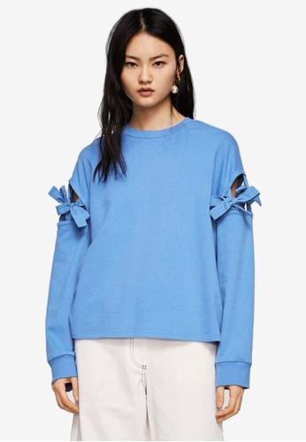 Mango blue Bow Detail Sweater 6E87EAA59A3C96GS_1