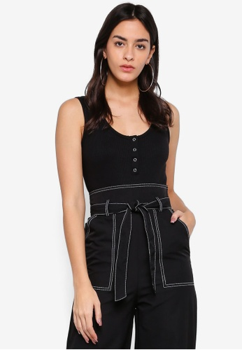 ad0a5b8ebe Shop MISSGUIDED Button Front Rib Bodysuit Online on ZALORA Philippines