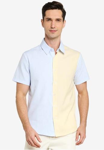ZALORA BASICS multi Colour Block Button Down Shirt A9663AA947E6D5GS_1