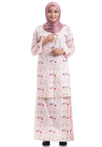 Ashura pink and multi Fazia Kurung Cotton Pahang 408A0AA5FAE623GS_1