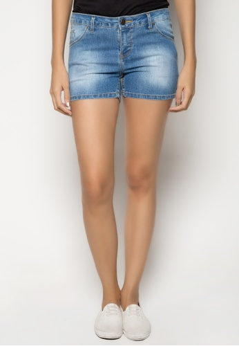 Freego blue Lara Low Rise Super Skinny Hot Shorts FR760AA92CKPPH_1