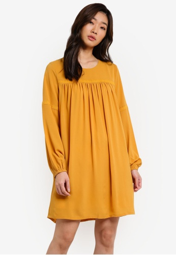 ZALORA yellow Yoke Trim Detail Dress 82873AA5E11A3BGS_1