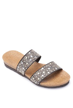 Karylle Studded Strappy Flat Sandals