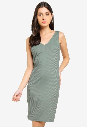 Vero Moda green Cilla Short Dress 1F555AA674F5D6GS_1