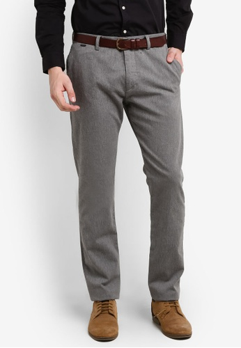 ESPRIT grey Woven Regular Pants ES374AA0RELXMY_1