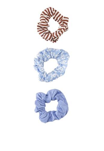 Rubi blue 3 Packs Printed Scrunchies F6FF9AC7C1FFD5GS_1