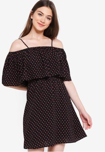 Something Borrowed black Cold Shoulder Dress 26547AA642E044GS_1