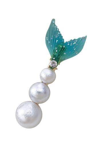 Sunnydaysweety green Fishtail Bubbles Clip CA030201GR 164B4ACAE651CEGS_1