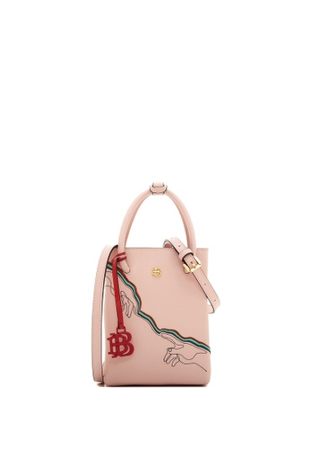 BONIA pink Blush Pink Fexmy Tapered Tote BE079AC8BFCA68GS_1