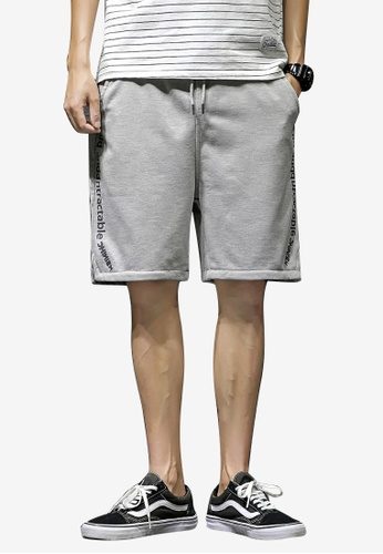 hk-ehunter grey Men Mid Rise Side Split Sport Shorts EDE1EAA00D67DDGS_1