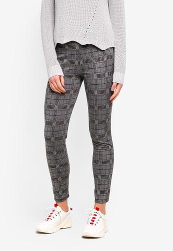 OVS black Stretch Cotton Leggings With Tartan Pattern EB6D5AA60C87ADGS_1