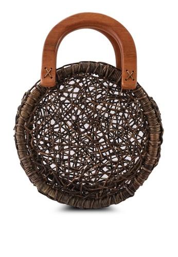 niko and ... brown Basket Bag C4966AC19138F1GS_1