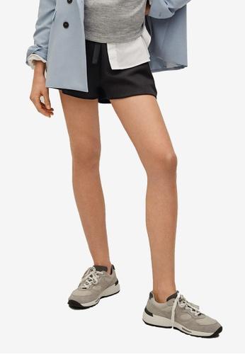 Mango black Drawstring Waist Shorts DA0A6AA91EB0FEGS_1