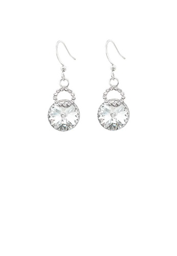 Glamorousky silver Elegant Earrings with Silver Austrian Element Crystals FB00AACEE90B55GS_1