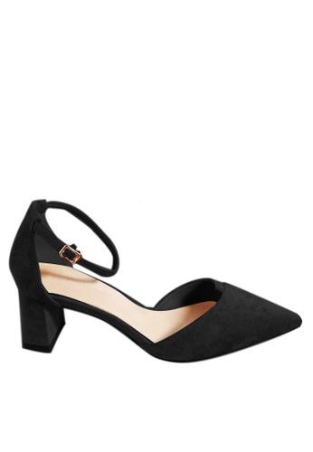 Twenty Eight Shoes 黑色 尖頭絨面中踭鞋197-1 3F1A8SH422E89CGS_1