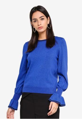 Vero Moda blue Millen Cuff O Neck Sweater E29BCAAC512949GS_1