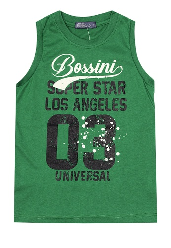 BOSSINI KIDS green Boys Muscle Shirt With Felt Print 34430KA8333FC6GS_1