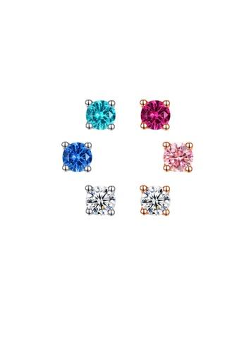 SUNRAIS silver High quality Silver S925 silver simple design earrings 3D119AC79C6668GS_1