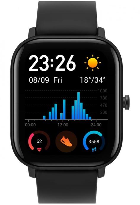 Amazfit Amazfit GTS 智能手錶, 曜石黑 (國際版)