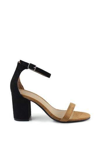 London Rag black Hailey Heel Sandal B7F12SHCD15E7EGS_1