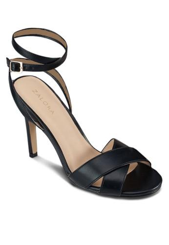 交zalora 順豐叉繞踝高跟涼鞋, 女鞋, 細帶高跟鞋
