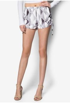 Drawcord Printed Shorts