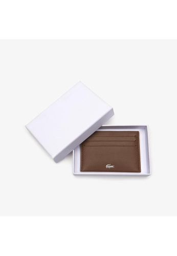 4c7fbc17948 Lacoste brown Men's Fitzgerald credit card holder in leather-NH1346FG  3569CAC996CA2EGS_1