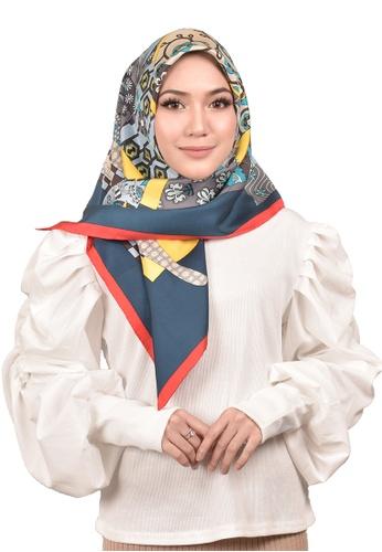 FATIMÉ multi Twill Silk Kimono (Yellow) 86930AA77BFFB6GS_1