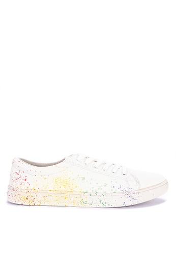 BENCH white Lace Up Sneakers E7BFBSHD74E975GS_1