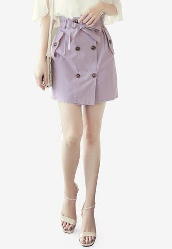 Eyescream purple Trench Mini Skirt 741E0AA3D07643GS_1