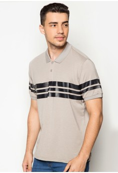 Polo with Stripe Rubber Print