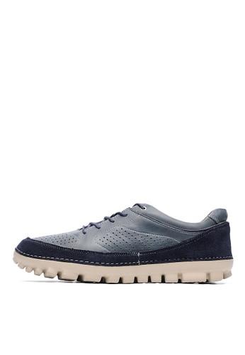 Mesprit hk分店IT輕量。打蠟牛皮運動休閒鞋-04769-藍色, 鞋, 休閒鞋
