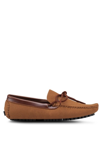High Cultured brown Contrast Loafers 328 B02CBSH11ADB24GS_1