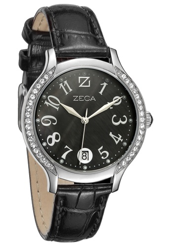 ZECA black and silver Milan Edition Female Analogue ZE260AC58SIBSG_1