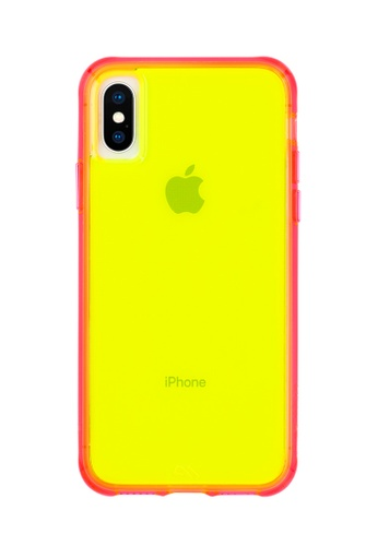 Case Mate pink and green iPhone XS Max Case Mate Tough Neon Anti Shock Protective Case (Green/Pink) 911D9ACCA4F397GS_1